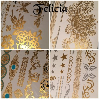 BeautyQ Golden tattoo Felicia