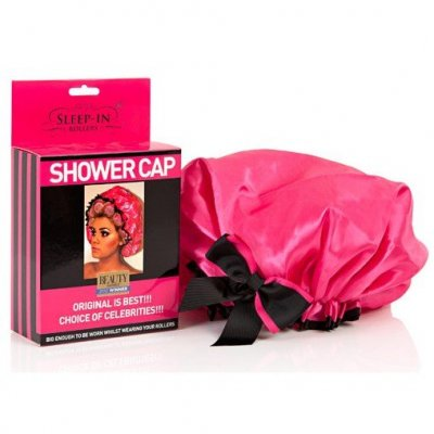 sleep+in+rollers+shower+cap